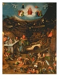 The Last Judgement (Oil on Panel) Gicléetryck av Hieronymus Bosch