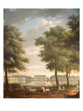 Schloss Benrath, 1806 (Oil on Canvas) Giclée-Druck von Antoine Charles Horace Vernet