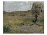 Summer Landscape (Oil on Canvas) Giclee Print by Jules Bastien-Lepage