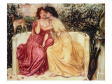The Lovers Giclee Print by Simeon Solomon