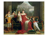 The Duchess of Feltre and Her Children, 1810 Giclee Print by Francois Xavier Fabre