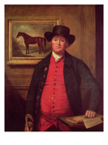 Richard Tattersall (1724-95) with 'Highflyer' in the Background Giclee Print by Thomas Beach