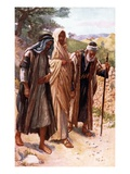 The Walk to Emmaus Giclee Print by Harold Copping