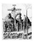 The Descent from the Cross (Engraving) Giclee Print by Andrea Mantegna
