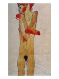 Standing Female Nude with Crossed Arms,1910 Giclee-vedos tekijänä Egon Schiele