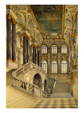 Staircase of the Winter Palace (W/C on Paper) Giclee Print by Konstantin Andreyevich Ukhtomsky