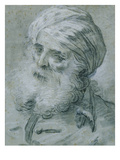 Portrait of an Old Man (Chalk on Paper) Giclee Print by Jean-Baptiste Le Prince