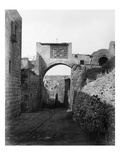 The Ecce Homo Arch across the Via Dolorosa in Jerusalem, 1857 (B/W Photo) Giclee Print by James Robertson
