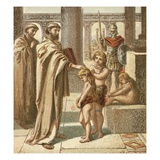 The Pope and the Saxon Children Giclee Print by  English
