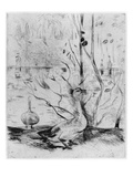 Goose, 1889 (Drypoint) (B/W Photo) Giclee Print by Berthe Morisot