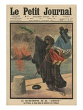 Catastrophe of the Pre-Dreadnought Battleship 'Liberte', France in Mourning for the Victims Giclee Print by  French