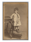 Visiting Card Depicting Jean Monet (1867-1914) 1871 (Albumen Print) (B/W Photo) Giclee Print by A. Studio Greiner