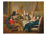 The Reading from Moliere, C.1728 Giclee Print by Jean Francois de Troy