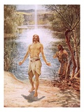 Christ Baptised by John the Baptist Giclee Print by William Brassey Hole
