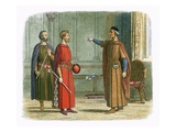 King Edward I Threatens the Lord Marshal Giclee Print by James E. Doyle