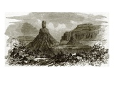 Chimney Rocks, on the Banks of the Columbia River Giclee Print by  English