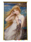 Sea Nymph, 1893 (Oil on Canvas) Giclee Print by William Robert Symonds