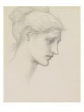 Study for Laus Veneria, C.1875 (Pencil on Paper) Giclee Print by Edward Burne-Jones