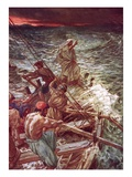 Jesus Stilling the Tempest Giclee Print by William Brassey Hole