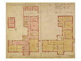 Plans for the Red House, Bexley Heath, 1859 (Pen and Ink and W/C on Paper) Giclee Print by Philip Webb
