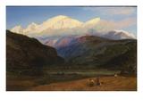 Mont Blanc from Servoz, 1856 Gicleetryck av Henry Moore
