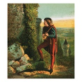 Blondel at Richard's Prison Giclee Print by  English
