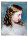 Head of a Girl, 1860 (Panel) Giclee Print by Richard Rothwell