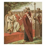 Saint Augustine and the Saxons Giclee Print by  English