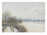 Winter in the Ouse Valley, 1891 (W/C) Giclee Print by William Fraser Garden