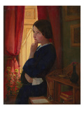 Considering a Reply, C.1860 (Oil on Panel) Giclee Print by George Dunlop Leslie