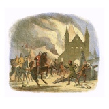 William I Receiving a Fatal Hurt at Mantes Giclee Print by James E. Doyle