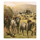 Bringing in the Hay Giclee Print by  English