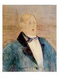 Portrait of Oscar Wilde, 1895 (W/C) Lámina giclée por Henri de Toulouse-Lautrec