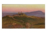 View of San Gimignano, 1898 (Oil on Panel) Giclee Print by Edith Ridley Corbet