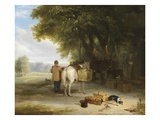 Off to Market (Oil on Panel) Giclee Print by William Mulready
