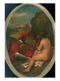 Le Concert Champetre, after Titian (Oil on Canvas Laid Down on Board) (See also 288056) Giclee Print by William Etty