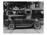 Dupont Automobile on Front of House, C.1919-30 (B/W Photo) Giclee Print by  American Photographer