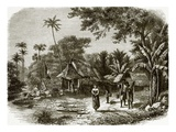 Village in Java Giclee Print by  English