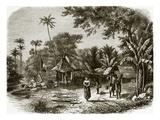 Village in Java Premium Giclee Print by  English