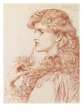 Proud Maisie, 1903 (Pencil and Red Chalk on Paper) Premium Giclee Print by Anthony Frederick Augustus Sandys