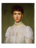 Portrait of a Woman (Oil on Canvas) Giclee Print by Philip Hermogenes Calderon