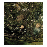 The Knights and the Briar Rose, 1869 (Detail of 198347) Giclee Print by Edward Burne-Jones