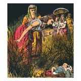 Finding the Infant Moses Giclee Print by  English