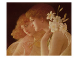 Two Angels Giclee Print by Charles Francois Sellier
