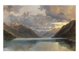 Lake Lucerne (Oil on Paper) Giclee Print by James Duffield Harding