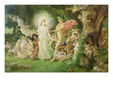 Study for the Quarrel of Oberon and Titania, C.1849 (See also 68757) Giclee Print by Sir Joseph Noel Paton