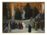 The Audience Gicléetryck av Thomas Edwin Mostyn