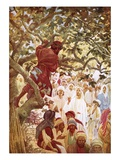 Jesus Summoning Zacchaeus the Publican to Entertain Him at His House Giclee Print by William Brassey Hole