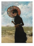 Promenade by the Sea (Oil on Panel) Giclee Print by Alfred Emile Stevens