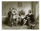 Charles 1st Refusing the Treaty at Oxford Giclee Print by  English